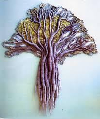 Kubinyi Anna: ezeréves fa, textilkép, 2000.