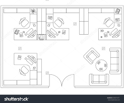Architecture Symbols Floor Plan Design Elements For Floor Plan Premises Thin Lines Icons Of