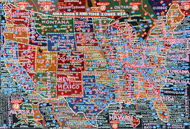 Time Zone Map Usa With Cities by Paula Scher U0027s Hand Painted Semi Accurate Maps Of America Citylab