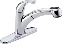 Kitchen Faucets With Pull Out Spray by Delta 467 Dst Palo Single Handle Pull Out Kitchen Faucet Chrome