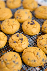 Halloween Cake Mix Cookies by Easy Pumpkin Chocolate Chip Cookies Made With Cake Mix
