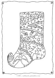 christmas stocking to color free printable christmas coloring