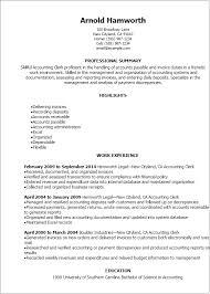 Imagerackus Stunning Professional Accounting Clerk Resume