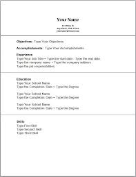 Create Online Resume For Free by Simple Resume Example Simple Resume Samples Free Basic Resume