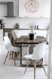 Rustic Modern Dining Room Tables by Love The Rustic Table Could Be A Diy Scandinavian Style Decor