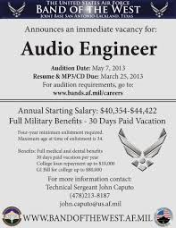 Salary Requirements Cover Letter Audio Engineer Salary Resume Cv Cover Letter