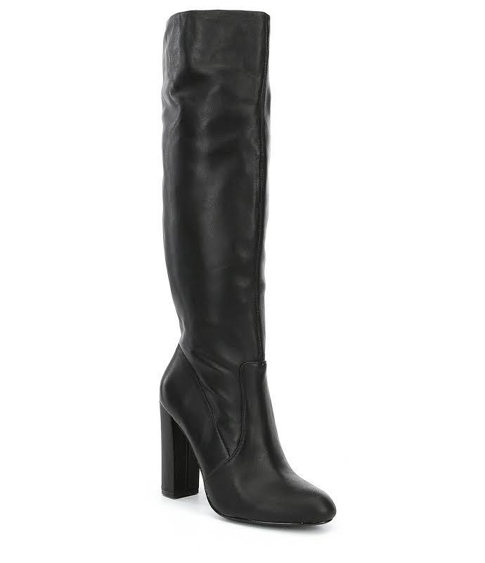 Steve Madden Eton Calf High Boots Black 8.5 M