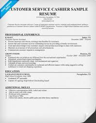 Customer Services Resume Sample by Customer Service Cashier Resume Sample Resume Samples Across