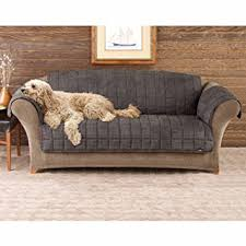 amazon com sure fit deluxe pet cover sofa slipcover sable