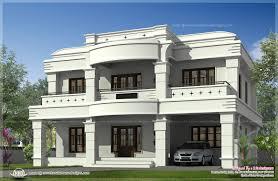 double storied luxury home exterior kerala design floor kaf