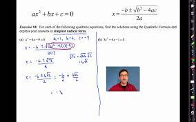 Common Core Algebra I Unit    Lesson    The Quadratic Formula by eMathInstruction YouTube