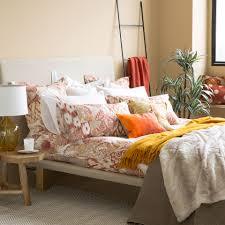 printed cotton bed linen bed linen bedroom zara home south