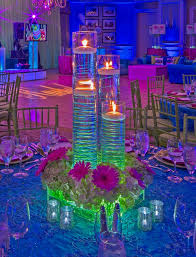 Purple Floating Candles For Centerpieces by Funky Neon Lighting With Floating Candle Centerpieces At A Bat