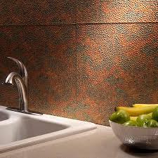 hammered copper backsplash kitchen great home decor strong