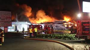 Fire Evacuation Plan In Restaurant by 5 Alarm Fire Rips Through Santa Clara Shopping Center Destroying 8