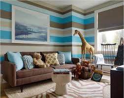 Living Room Wall Photo Ideas Adorable Living Paint Color Idea With Cool Stripes Wall Pattern In