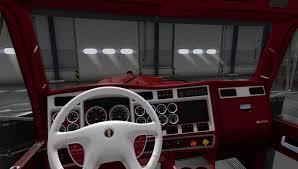 kenworth semi trucks kenworth w900 truck interior american truck simulator mod ats mod