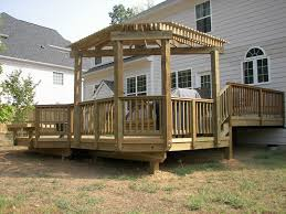 Deck Pergola Ideas by Pergola With Angled Back Outdoor Deck And Porch Pinterest