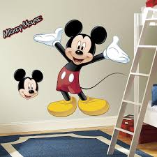 amazon com roommates rmk1508gm mickey mouse peel and stick giant featuring giant mickey mouse wall decal view larger