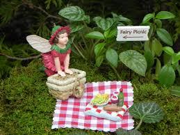 fairy garden picnic ensamble miniature garden kit fairy