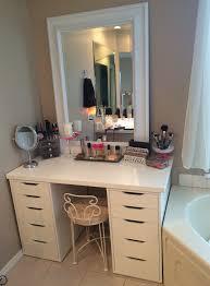 cheerful makeup vanity on pinterest organize make up makeup drawer