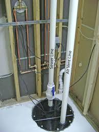 Plumbing Rough Backyard How Finish Basement Bathroom Sewage Pump Plumbing