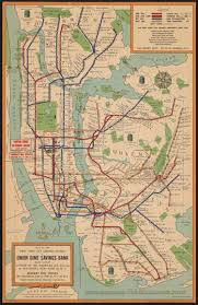Street Map Of New York City by Maps Vintage Map Shows New York City Subway System In 1954