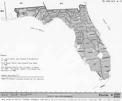 Large Map Of Florida by Florida Census Maps 1830 1920