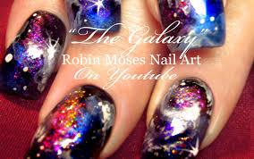 Robin Moses Nail Art by Galaxy Nails Design Tutorial Youtube