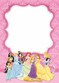 1st birthday princess invitation disney princess free printable party invitations princess