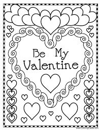rate valentine coloring sheets pages kitty valentines