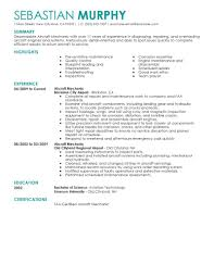 Civil Engineer Technologist Resume Templates Best Aircraft Mechanic Resume Example Livecareer
