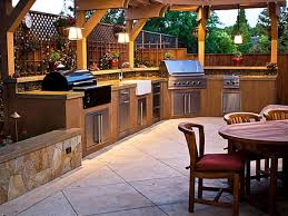 kitchen brown kitchen cabinets with two grilling utensils and