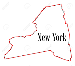 New York State Map by State Map Outline Of New York Over A White Background Royalty Free
