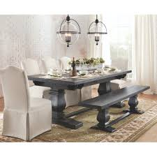 Wood Dining Room Walker Edison Furniture Company Bourbon Extendable Dining Table