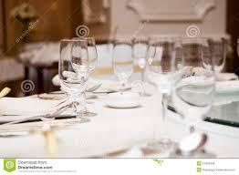 elegant dinner table setting stock images image 16433484