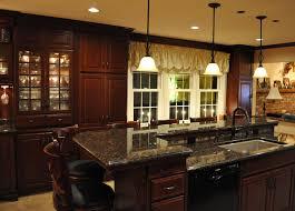 hickory wood alpine glass panel door breakfast bar kitchen island