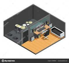 Recording Studio Floor Plans Drums Recording Studio Interior U2014 Stock Vector Macrovector