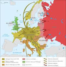 Western Europe Political Map by Atlas Of World War Ii Wikimedia Commons