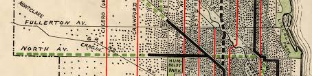 Public Transit Chicago Map by Chicago 1900 1914