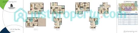 oakwood residency floor plans justproperty com