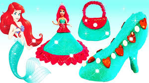 play doh sparkle disney princess dresses shoe high heel ariel