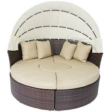 Where To Buy Patio Cushions by Amazon Com Outdoor Patio Sofa Furniture Round Retractable Canopy