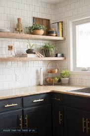 kitchen inspiring open shelving for kitchen wooden open shelves