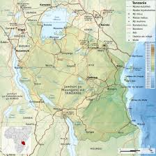 Physical Map Of Africa by Maps Of Tanzania Map Library Maps Of The World