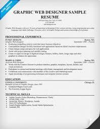 Graphic Designer Resume Sample by Graphic Web Designer Resume Sample Resumecompanion Com