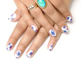 how to floral watercolor nail art