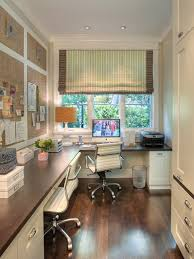 Decorate A Home Office Stylish Window Shade With Classic Dark Wooden Finished Floor For
