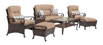 Patio Furniture Set Lake Como Deep Seating Wicker Patio Furniture Set Khaki Tan 6