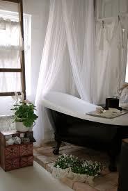 clawfoot tub bricks plants shower curtain love it all loft